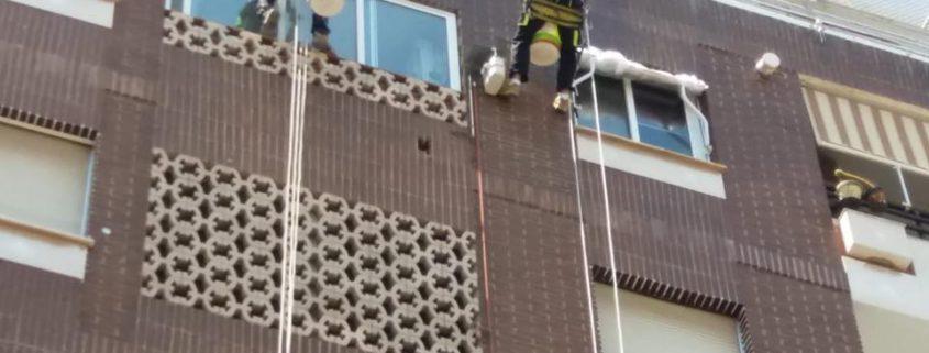 trabajos verticales en fachadas
